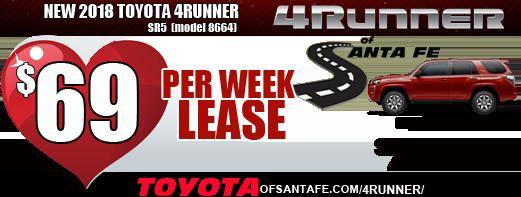 New 2018 4Runner $69/week