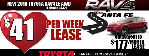 New 2018 Toyota Rav4 LE AWD $41/week graphic Sweet