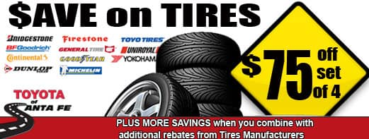 Save $75 on tires no disc