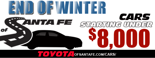 End of Winter Cars under $8000