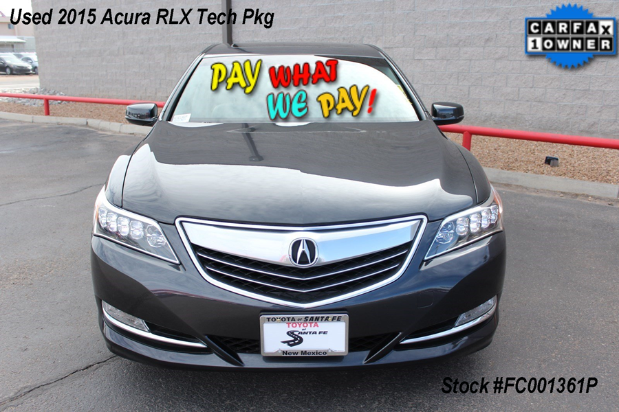 Pre-Owned 2015 Acura RLX Tech Pkg With Navigation FC001361P
