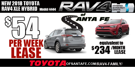 Rav4 Hybrid $54 per week event page