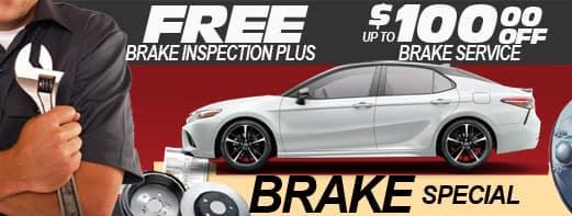 Free Brake Inspection plus up to 100 off brake service