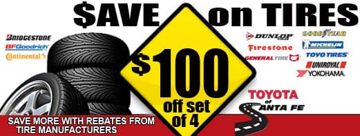 Save up to $100 on set of 4 tires