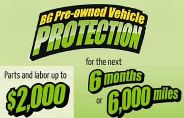 BG Pre-Owned Vehicle Protection up to $2000