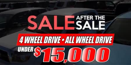 4wd awd under $15000 Sale after sale