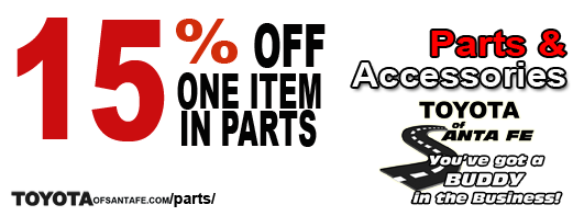 15% off one item parts