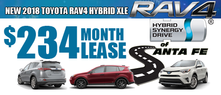 New 2018 rav4 Hybriid xle $234/month