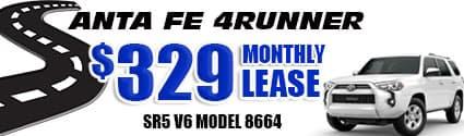New 2020 4Runner Model 8664  $329/month lease