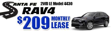 New 2020 Rav4 2WD Model 4430 starting at  $209/month