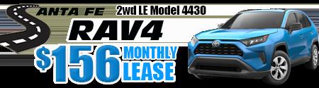 New 2019 Rav4 2WD Model 4430 starting at  $156/month