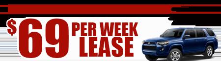 New 2019 4Runner Model 8664   $69/week or $299/month lease
