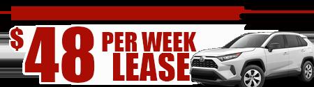 New 2019 Rav4 2WD Model 4430 starting at  $48/week or $208/month