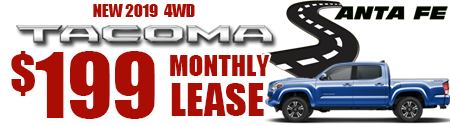 New 2019 Tacoma Model 7594 Double Cab SR V6 SHORT BED 4WD   $199/month lease