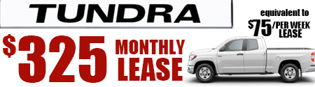 New 2019 Tundra Model 8341  Toyota Tundra SR5 Double Cab 6.5' Bed 5.7L  $75/week or $325/month