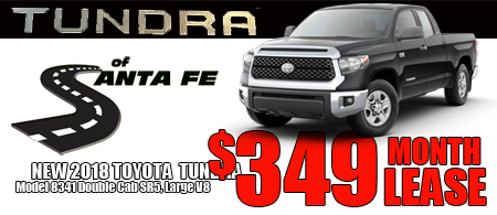 New Tundra DoubleCab Starting  at $349/month