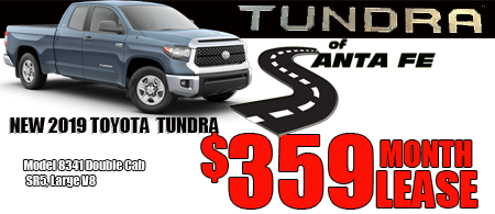 New 2019 Tundra DoubleCab Starting  at $359/month