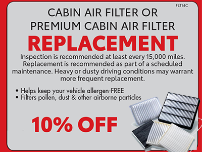 Cabin Air Filter 10%