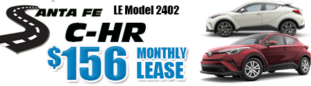 New 2019 C-HR LE Model 4402 starting at $156/month