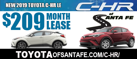 New 2019 C-HR LE Model 4402 starting at  $209/month