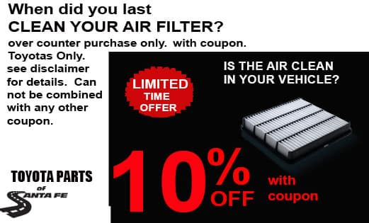 10% off Cabin Air Filter