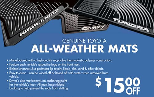 FloorMats $15 off