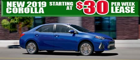 New 2019  Corolla Model 1852.  $30/week or $130/month