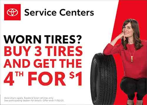 Worn Tires Buy 3 get 4th for $1
