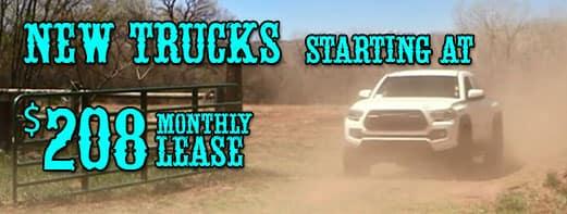 New trucks $208/month