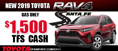 Bigger Savings from Toyota on New 2019 Rav4 Gas Only
