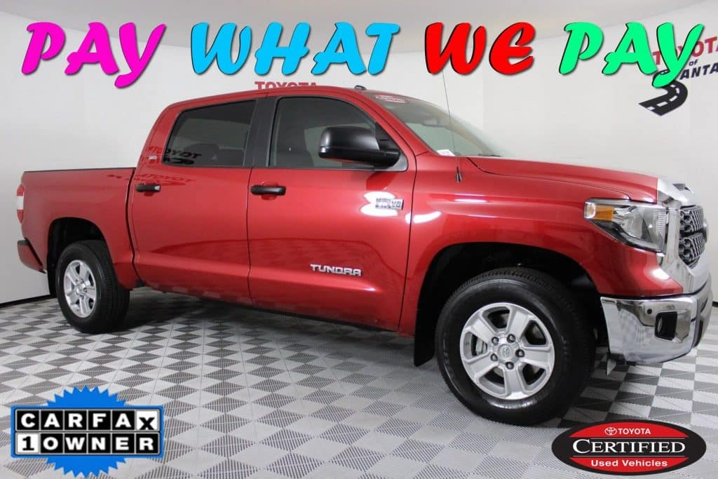 Certified Pre-Owned 2018 Toyota Tundra SR5 RWD Crew Cab Truck  JX242736P