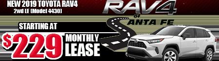 2WD RAV4 $229/month