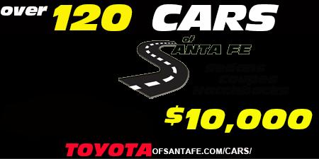 Over 120 sedans, coupes hatchbacks under $10,000