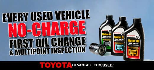 No Charge First Free Oil Change with every new vehicle