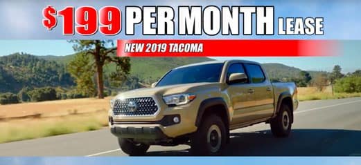 New 2019 Tacomas $199/month lease