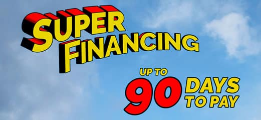 super financing up to 90 days to pay