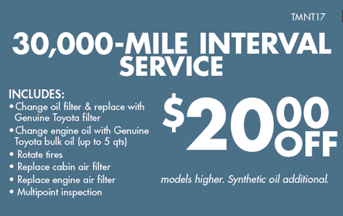 30k Interval Service 20 off