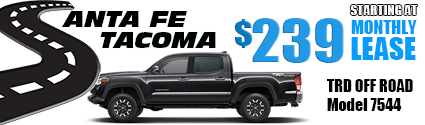 New 2020 Tacoma Model 7544 Double Cab TRD OFF ROAD 4WD   $239/month lease