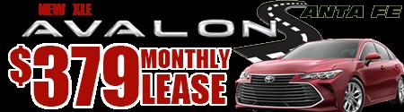 New 2020  Avalon XLE  Model 3544.  $379 per month