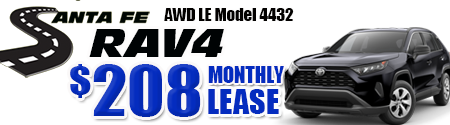 New 2019 Rav4 AWD Model 4432 starting at  $208/month
