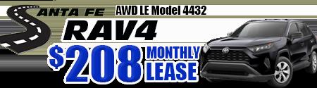 New 2019 Rav4 AWD Model 4432 starting at  $208/month