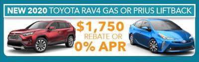 2020 Rav4 gas red or prius liftback blue 1750 or 0% apr