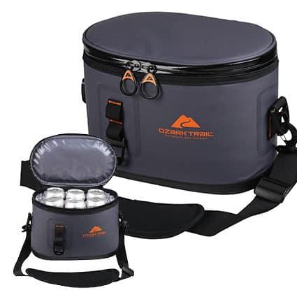 Ozark Trail Premium 6 Can Cooler, Gray