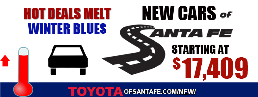 New Toyotas starting at $17409