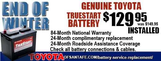 End of Winter TrueStart Battery $129.95