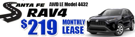 New 2020 Rav4 AWD Model 4432 starting at  $219/month