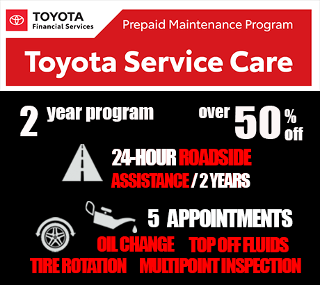Save over 50% with Toyota Service Care