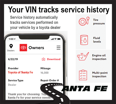 your vin tracks your service history
