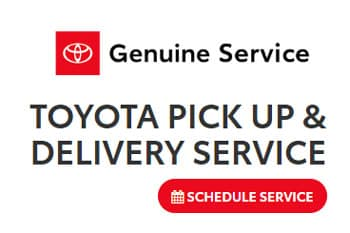 Toyota Pick up and Delivery Service