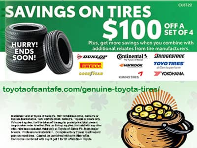 Lucky Tires Buy 4 get $100 off